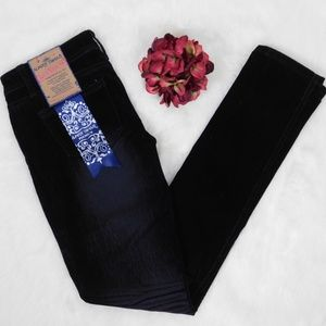 Almost Famous Distressed Velvet Black Skinny Jeans